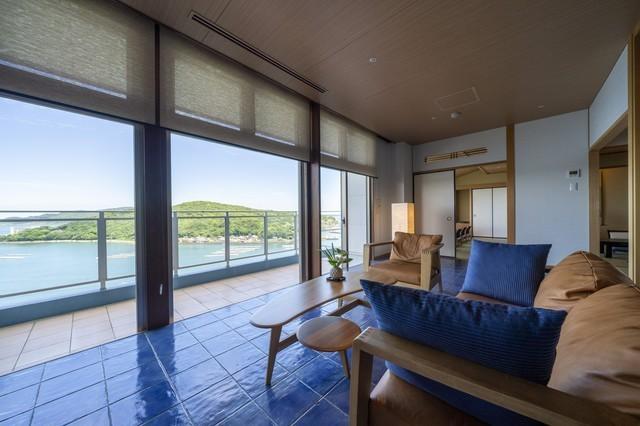 汀館最上階「天空フロア」特別室和室13.5畳+7.5畳+TB